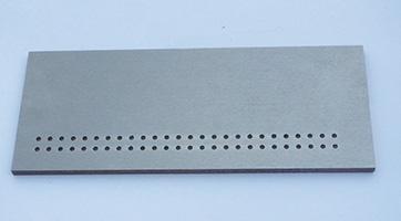 TFP40 66HRC T=4mm φ2.5 キリ穴通し連続加工
