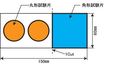 試験片の採取方法(上面図)